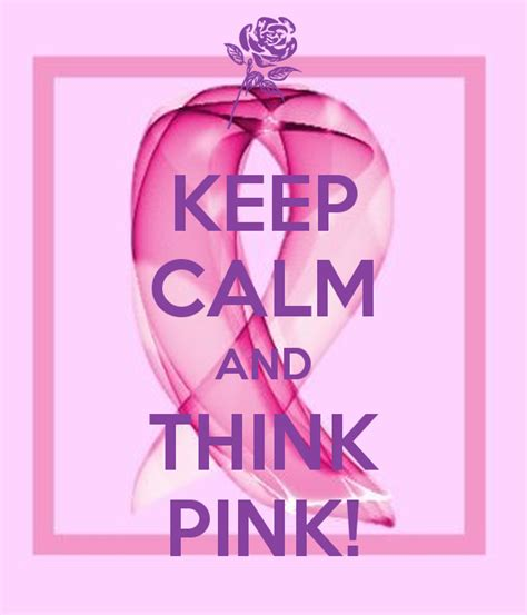 Think And Think Pink by Keep Calm And Think Pink Poster Aphrodite S Attique