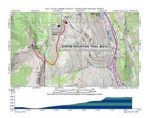 Home Vacation Rentals by Shrine Mountain Trail Map