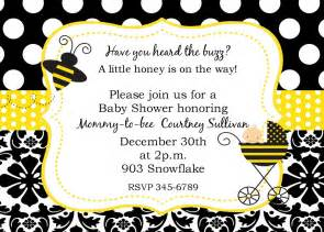 bumble bee baby shower invitations digital or by noteablechic
