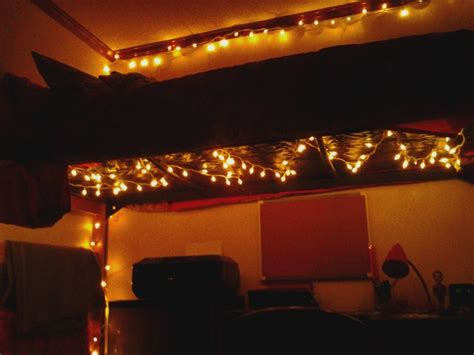 8 Tips On Putting Up Lights by Put Lights A Lofted Bed To Light Up A