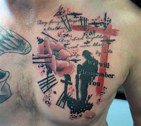 remembrance day tattoo designs 50 fallen soldier designs for memorial ideas