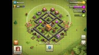 Best defense base for town hall level 4 clash of clans defense