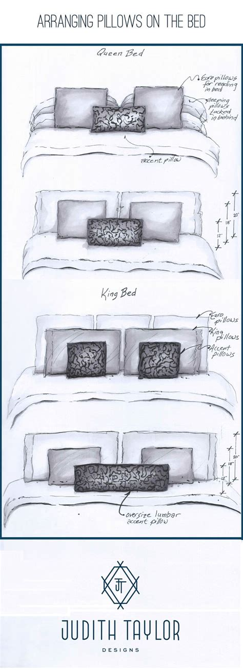 1000 ideas about pillow arrangement on pinterest bed arrangement and sizing for pillows on queen and king bed