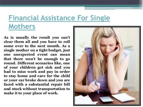 emergency financial assistance for single