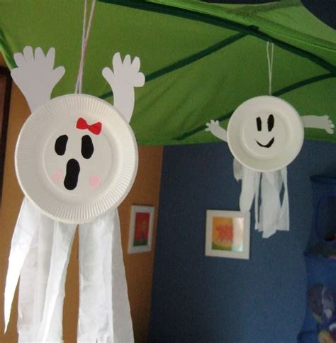 Paper Plate Ghost Craft - best 25 easy crafts ideas on