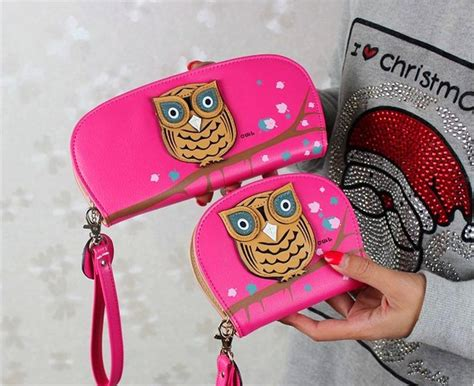 Dompet Smart Wallet Printing Owl Pink Mammora new arrival 3d owl animal pattern rounded zipper wallets mr alfred shop
