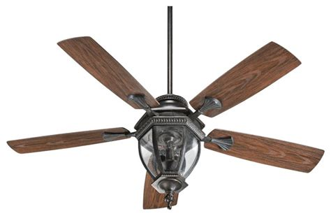 rustic lodge 52 quot quorum baltic granite patio ceiling fan