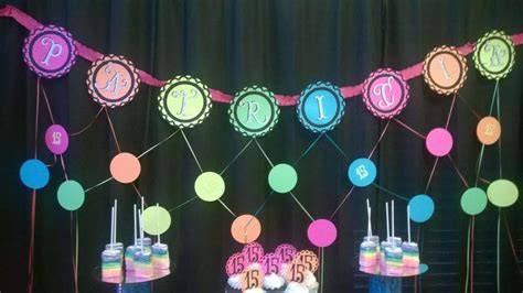 quinceanera themes glow in the dark neon glow in the dark quincea 241 era party ideas photo 5