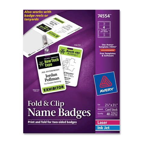 name badge insert template avery name badge insert ld products