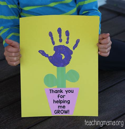 s day card preschool grows template thank you for helping me grow craft
