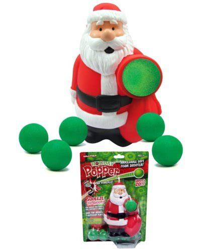christmas poppers with reindeer toys santa popper squeezable soft foam shooter hogwild