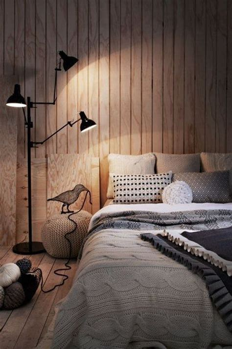 bedroom cozy cozy bedroom with timber feature wall