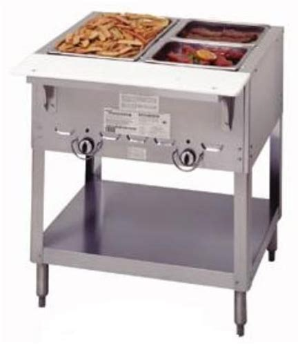 small propane steam table duke manufacturing steamtable 2 pan l p gas 302 p