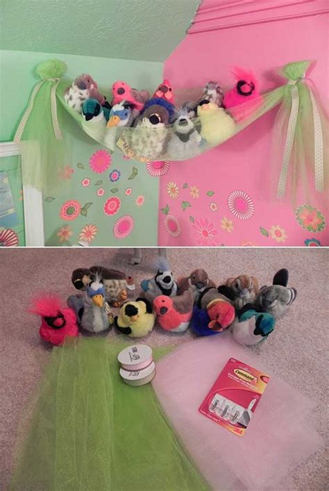 top  clever diy ways  organize kids stuffed toys
