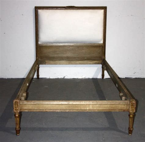 antique twin beds for sale french louis xvi upholstered painted twin bed j4785 for