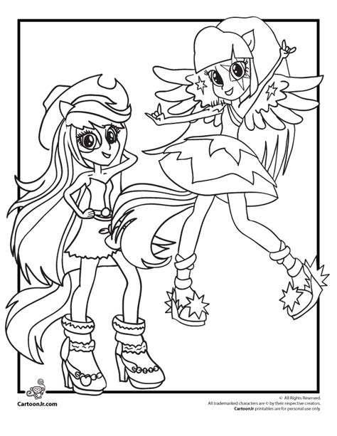 rainbow rocks equestria girls coloring pages sketch