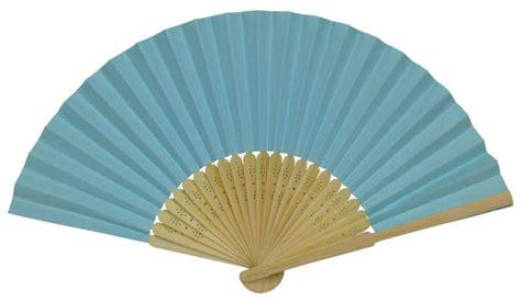 Folding Paper Fans - folding paper fan 8 25 quot light blue