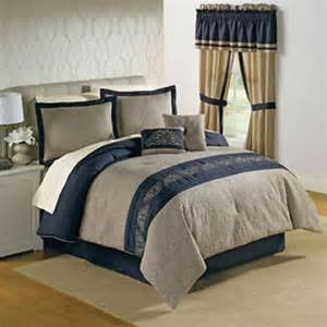sale king size 6pc navy blue and tan from
