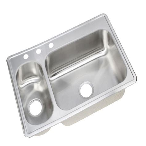 Dayton Kitchen Sinks Elkay Dayton Elite Top Mount Stainless Steel 33 In 3 Bowl Kitchen Sink Dsemr233223