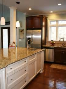 white and cherry kitchen cabinets photos hgtv