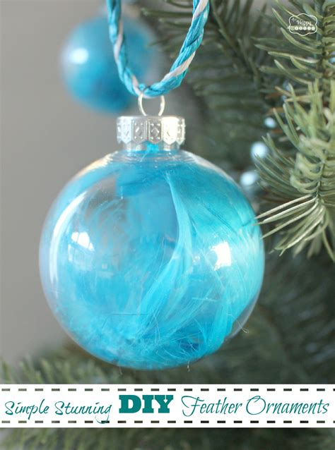 diy ornaments images simple stunning diy feather ornaments the happy housie