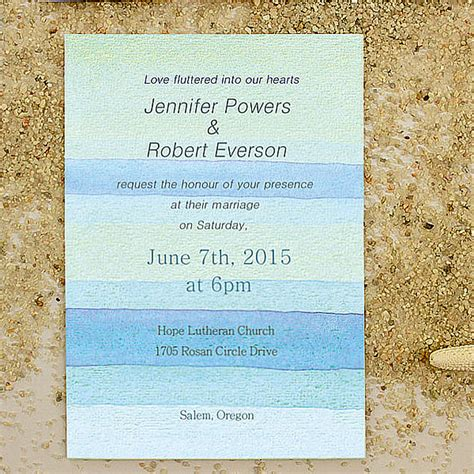 printable wedding invitations beach printable watercolor beach summer wedding invitations