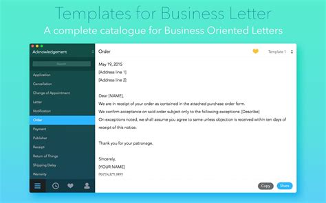 business letter templates for mac templates for business letter 1 0 purchase for mac macupdate