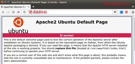 setup ubuntu server apache install apache mariadb and php7 lamp stack on ubuntu 14