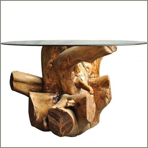 tree solid log wood stump cocktail coffee table w