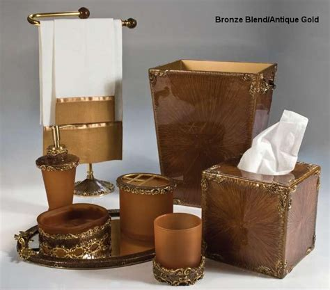 bathroom accessory sets bronze bronze bathroom accessories bronzegold home bed u0026 bath