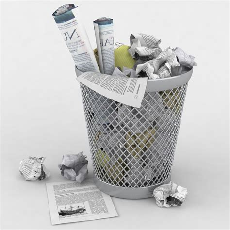 waste paper basket 3d waste paper basket