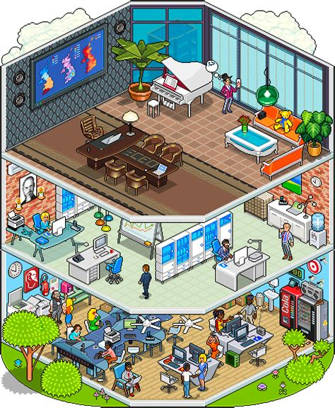room maker fantastic pixelart works by megapont