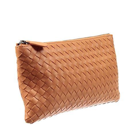 Make Up Wallet bottega veneta wallet make up bag intrcciato in orange lyst