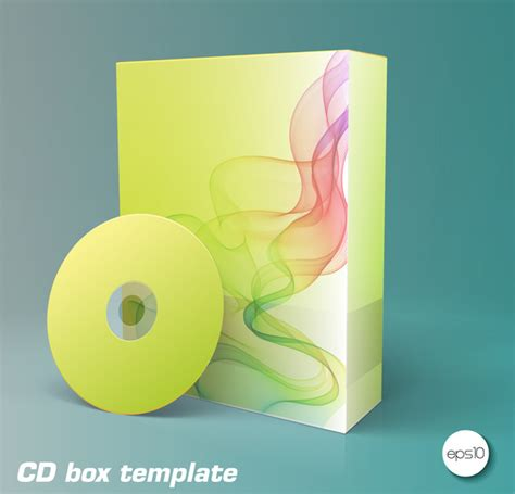product box and cd templates free vector in adobe