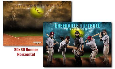 Softball Thunder 44 99 Arc4studio Photoshop Templates For Photographers Softball Team Banner Templates