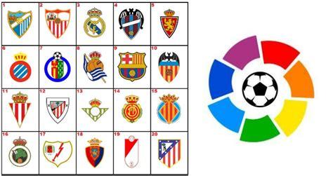 Spanish La Liga Table Image Gallery Liga Bbva Teams