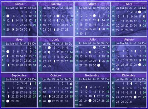 Calendario Lunar Junio 2015 Calendario Lunar 2016