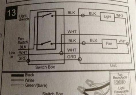 bathroom remodel wiring to new light fan combo