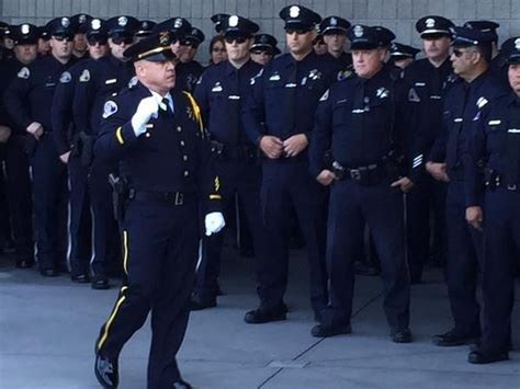 San Jose Officer by Dignitaries Family Honors Fallen San Jose Officer