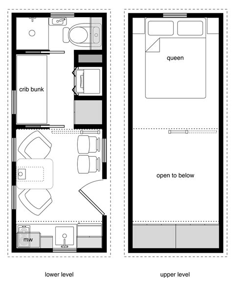 Crib Tiny House Design 8 X 20 House Plans