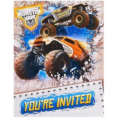 printable monster jam birthday cards monster jam birthday invitations invitation card collection