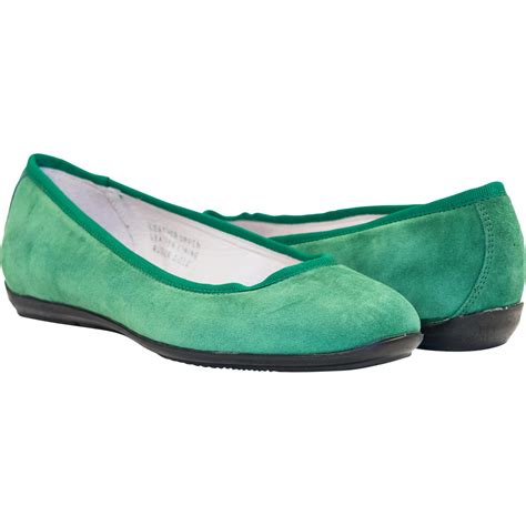 green flats shoes mimi green dip dyed suede ballerina flats paolo shoes