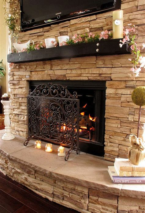 fabulous floor to ceiling stacked stone fireplace design 25 hot fireplace design ideas for your house
