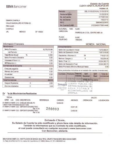 bbva bancomer estado de cuenta estado de cuenta bancomer marzo 2016