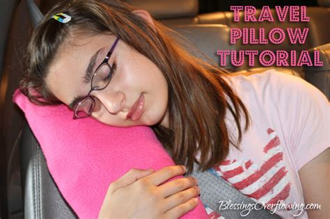 Travel Pillow Tutorial by Fleece Travel Pillow Tutorial Blessings Overflowing