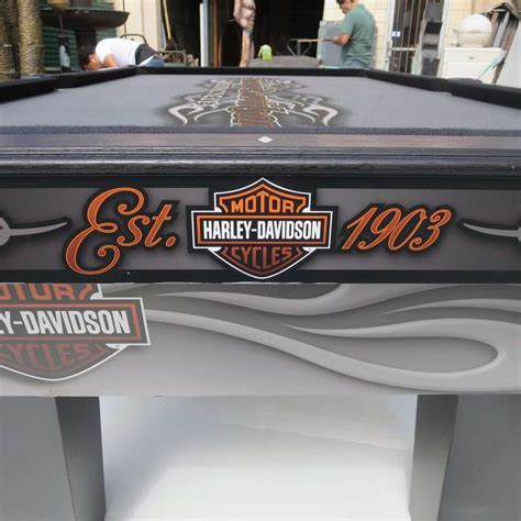harley davidson custom pool table at 1stdibs