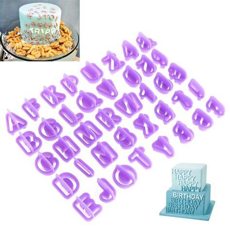 lettere per pasta di zucchero ounona 40 pezzo stini lettere per le decorazioni in