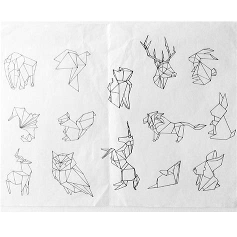 tattoo animal origami origami lion tattoo google search shoulder tattoos