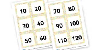 printable number line multiples of 10 multiples of 10 cards counting in 10s primary resources