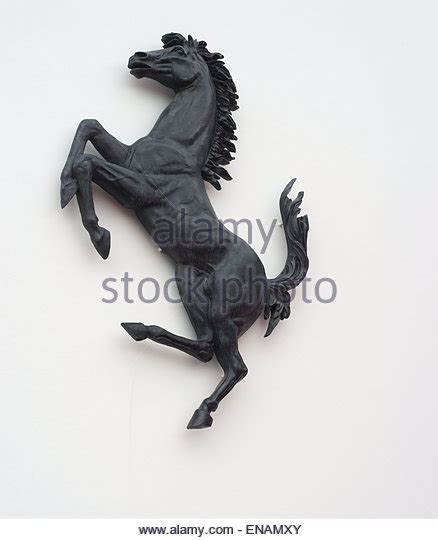 Black Horse Ferrari by Maranello Horse Stock Photos Maranello Horse Stock